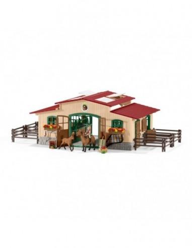 Schleich Écurie avec chevaux et...
