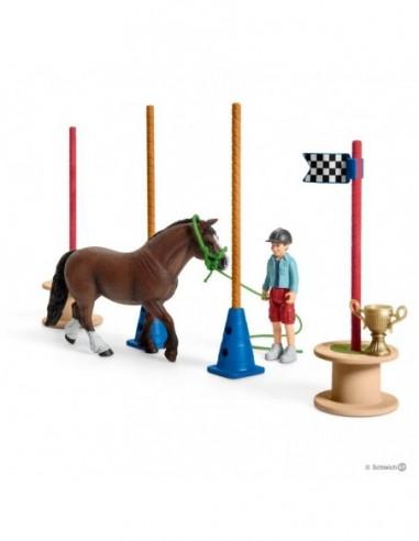 Schleich Course d'agility pour poney